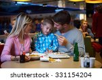 family together have break at... | Shutterstock . vector #331154204