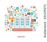 industry concept design on... | Shutterstock .eps vector #331159271