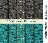 set of ten modern patterns | Shutterstock .eps vector #331160651