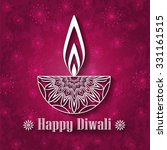 decorative diwali lamp design... | Shutterstock .eps vector #331161515