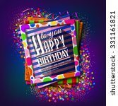 birthday card. frames with... | Shutterstock .eps vector #331161821