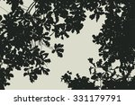 oak tree and branches... | Shutterstock .eps vector #331179791