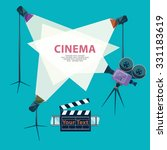 cinema concept with spotlight... | Shutterstock .eps vector #331183619
