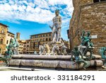 the fountain of neptune in a...