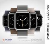 set of 5 modern steel case... | Shutterstock .eps vector #331202909