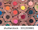 colored pencils background | Shutterstock . vector #331203881