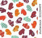 mittens  vector winter seamless ... | Shutterstock .eps vector #331204499