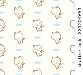 seamless pattern with cute... | Shutterstock .eps vector #331204691