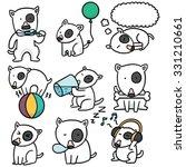 vector set of dog  bull terrier | Shutterstock .eps vector #331210661