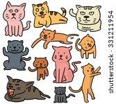 vector set of cat | Shutterstock .eps vector #331211954
