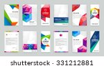 set of visual identity with... | Shutterstock .eps vector #331212881