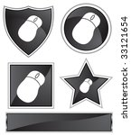 mouse black | Shutterstock . vector #33121654