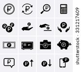 ruble finance and money icons | Shutterstock .eps vector #331217609