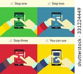 step by step instructions for... | Shutterstock .eps vector #331224449