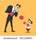businessman boxing against a... | Shutterstock .eps vector #331226891