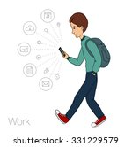 notification in mobile... | Shutterstock .eps vector #331229579