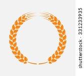 wreath of wheat ears. vector... | Shutterstock .eps vector #331233935