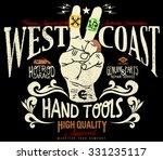 tee graphics west coast hot rod ... | Shutterstock .eps vector #331235117