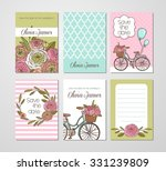 collection of 6 cute card... | Shutterstock .eps vector #331239809