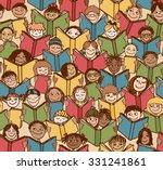 seamless pattern of kids... | Shutterstock .eps vector #331241861