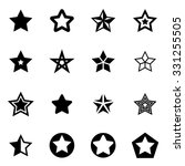 vector black stars icon set. | Shutterstock .eps vector #331255505