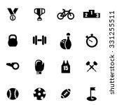 vector black sport icon set.   Shutterstock .eps vector #331255511