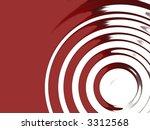 red sound disc fractal...   Shutterstock . vector #3312568