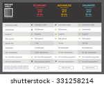 vector pricing table banners...