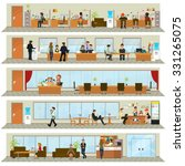 workday in an office building.... | Shutterstock .eps vector #331265075