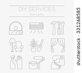 vector set of line icons for... | Shutterstock .eps vector #331268585