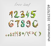 font with leaves in the form of ... | Shutterstock .eps vector #331270739