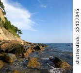 Panorama Of The Sea  Rocks And...