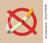 no smoking sign  | Shutterstock .eps vector #331274909