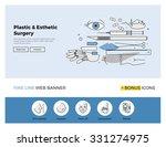 flat line design of web banner... | Shutterstock .eps vector #331274975