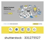 flat line design of web banner... | Shutterstock .eps vector #331275527