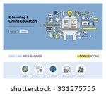 flat line design of web banner... | Shutterstock .eps vector #331275755