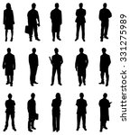 collage of people silhouettes... | Shutterstock .eps vector #331275989