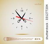 scissors and comb icon  clock | Shutterstock .eps vector #331277204