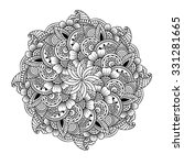 round element for coloring book.... | Shutterstock .eps vector #331281665