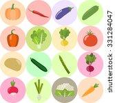 set of fresh healthy vegetables ...   Shutterstock .eps vector #331284047