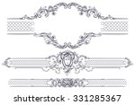 vector luxury frame and border... | Shutterstock .eps vector #331285367