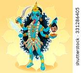 kali goddess. funny... | Shutterstock .eps vector #331286405