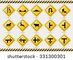 american traffic signs | Shutterstock .eps vector #331300301