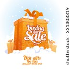 boxing day sale design with...   Shutterstock .eps vector #331303319