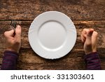 man with a fork in his hand... | Shutterstock . vector #331303601
