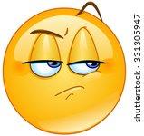 jealous emoticon | Shutterstock .eps vector #331305947