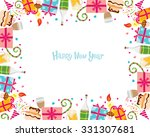 new year border  merry... | Shutterstock .eps vector #331307681