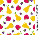 bright fruits seamless pattern... | Shutterstock .eps vector #331307711