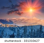 Colorful Winter Sunrise In The...