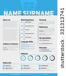 minimalist cv  resume template... | Shutterstock .eps vector #331313741